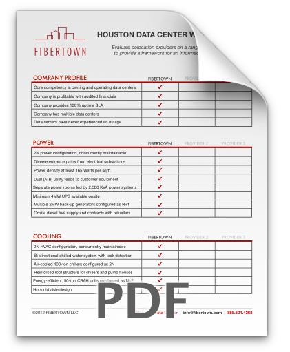 Thank you colocation checklist fibertown for Data center checklist template